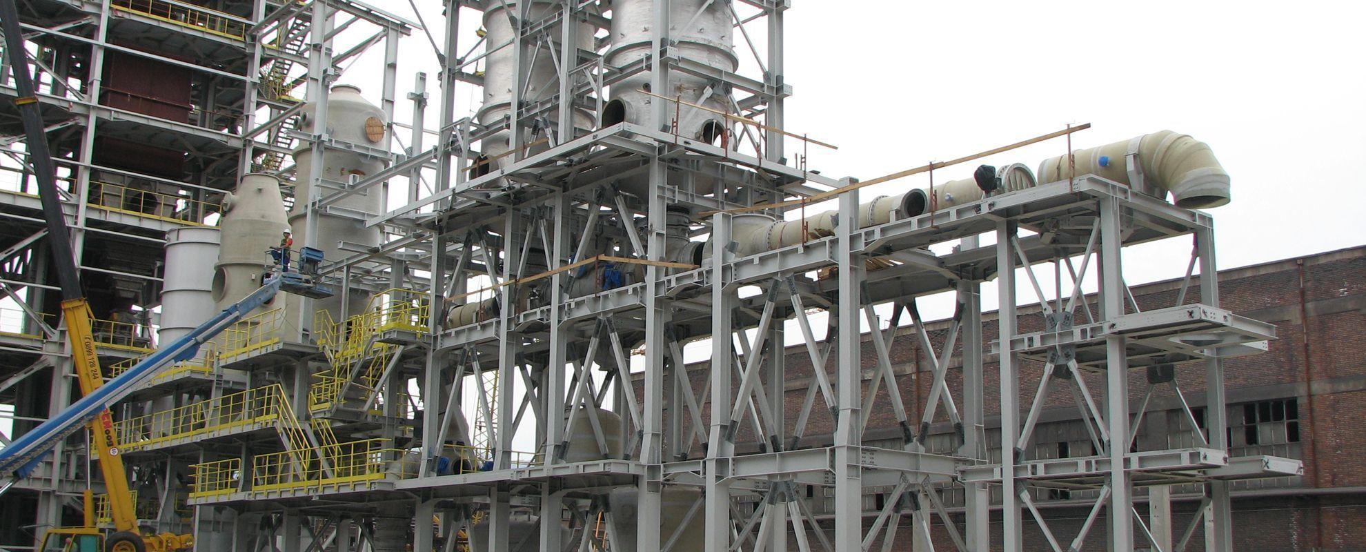 Производство и монтаж на стоманени конструкции за индустрията
